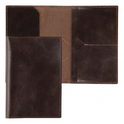 Обложка для паспорта натуральная кожа, цвет коричневый Grand 02-004-0522