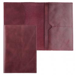 Обложка для паспорта натуральная кожа, цвет бордовый Grand 02-004-0543