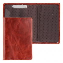 Обложка для паспорта натуральная кожа, цвет коньяк Grand 02-002-0823