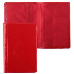 Обложка для паспорта натуральная кожа, цвет красный Grand 02-002-0951