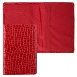 Обложка для паспорта натуральная кожа, цвет красный Grand 02-002-3151