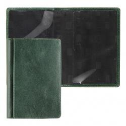 Обложка для паспорта натуральная кожа, цвет оливковый Grand 02-002-0583