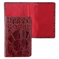 Обложка для паспорта натуральная кожа, цвет красный Grand 02-002-3251