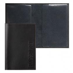 Обложка для паспорта кожа Faetano тиснение отстрочка FT-PS01-K02 коричневая