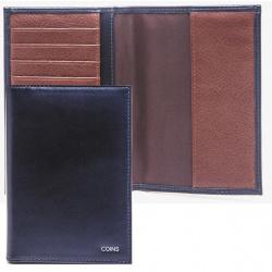 Обложка для паспорта кожа Coins MORIZ с отделением д/карт отстрочка OP02-Kk0503 синяя