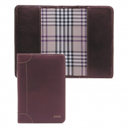 Обложка для паспорта натуральная кожа, цвет коричневый Coins VANCCELLI OP01-Kk0035