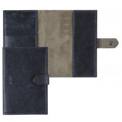 Обложка для паспорта натуральная кожа, хлястик на кнопке, цвет синий Coins OP05-Кz5845