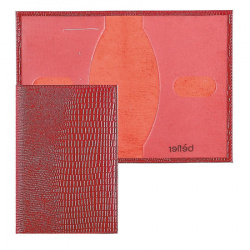 Обложка для паспорта кожа Befler Reptile тиснение O.1.-3./O.1.KK. красная