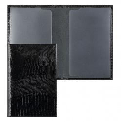 Обложка для паспорта кожа Befler Reptile тиснение отстрочка O.1.KK.черная