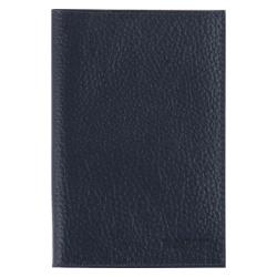 Обложка для паспорта кожа Befler Baku тиснение O.1.BK. синяя