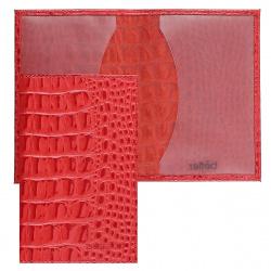 Обложка для паспорта кожа Befler Кайман тиснение O.1.-13./O.1.KM. красная