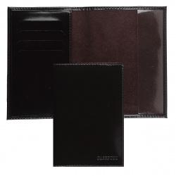 Обложка для паспорта кожа Befler тиснение с отделом д/карт O.23.-1./O.23.SH. коричневая