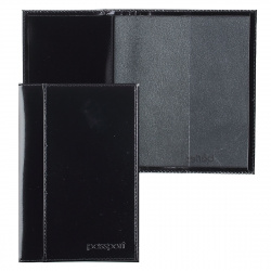 Обложка для паспорта кожа Befler тиснение O.21.-1./O.21.SH черная
