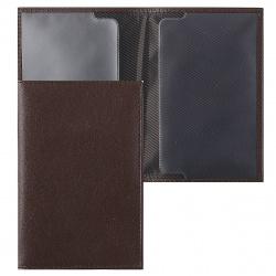 Обложка для паспорта натуральная кожа, цвет шоколад Fabula O.96.AL.