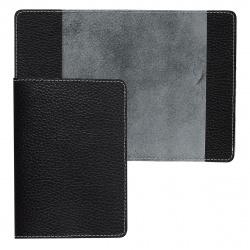 Обложка для паспорта натуральная кожа, цвет черный Fabula Blackwood O.11.CD