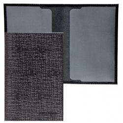 Обложка для паспорта натуральная кожа, цвет черный Fabula O.1.BA