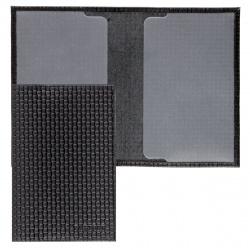 Обложка для паспорта натуральная кожа, цвет черный Fabula O.1.DG