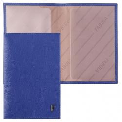 Обложка для паспорта натуральная кожа, цвет синий Fabula O.96.CH.