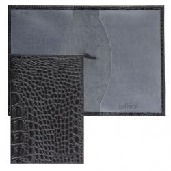 Обложка для паспорта кожа Befler Кайман тиснение O.1.-13./O.1.KM черная