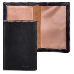 Обложка для паспорта натуральная кожа, цвет черный Askent Kansas O.8.TXF