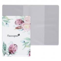 Обложка для паспорта ПВХ KLERK Spring Flowers печать без уголков 211671