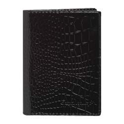 Обложка для автодокументов кожа Attomex Croco Nile 9*13 тиснение с вкладышем 1011600 черная