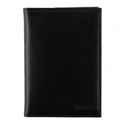 Обложка для автодокументов натуральная кожа, 2 открытых кармана Domenico Morelli Black DM-B001-K001