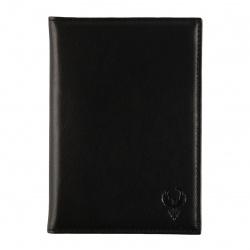 Обложка для автодокументов натуральная кожа, 2 открытых кармана Domenico Morelli Black-3 DM-B001-K01-F