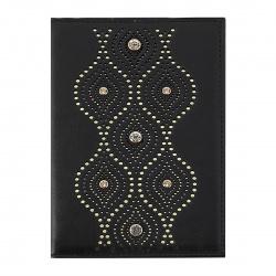 Обложка для автодокументов натуральная кожа, 1 открытый карман, черный Domenico Morelli Орнамент-1 Domenico Morelli BR-OD01-K01-LS1