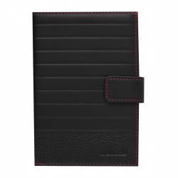 Обложка для автодокументов натуральная кожа, 1 открытый карман, черный Domenico Morelli Амадей Domenico Morelli DM-B005-KS01