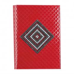 Обложка для автодокументов кожа Elisir Алессандра 10*14 с отделом д/паспорта и карт кристаллы BV-7-L45-172 красная