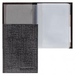Обложка для автодокументов кожа Askent 9*13 тиснение BV.1.BА черная