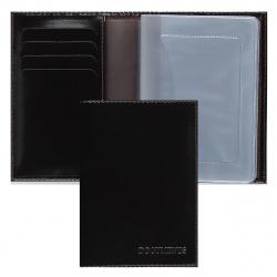 Обложка для автодокументов кожа Askent 9*13 с отделом д/карт тиснение BV.20.-1./BV.20.SH. коричневая