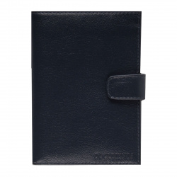 Обложка для автодокументов натуральная кожа, 1 открытый карман, синий Fabula Largo BV.8.LG