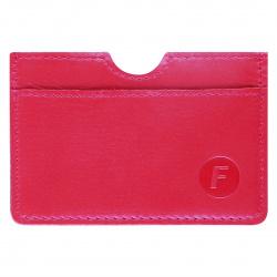 Кардхолдер кожаный 7*10 Faetano тиснение отстрочка FT-KH06-K007 красный