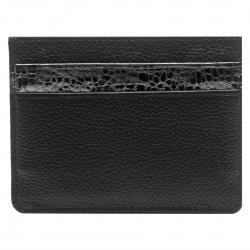 Кардхолдер кожаный 7*10 Coins MILANA отстрочка KR02-Ag0115 черный