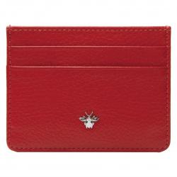 Кардхолдер кожаный 7*10 Coins BOOGABEE брадс отстрочка KR02-Fl0002 красный