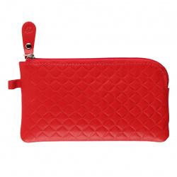 Ключница для женщин, натуральная кожа, 75*140мм, на молнии, цвет красный Форсаж-8 Мистраль FR-KL12-TK7