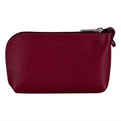 Ключница для женщин, натуральная кожа, 70*120мм, на молнии, цвет бордовый Fabula KL.21/1.AL