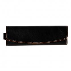 Ключница для мужчин, натуральная кожа, 55*160мм, на кнопках, цвет черный Классик Befler KL.7.TXF