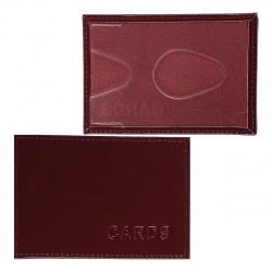 Футляр для карт кожаный 70*90 Domenico Morelli FT-TK-TS097 тиснение бордо