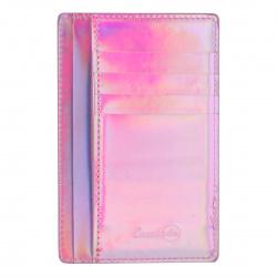 Картхолдер искусственная кожа, 90*140мм, цвет розовый Наппа Феникс 48413