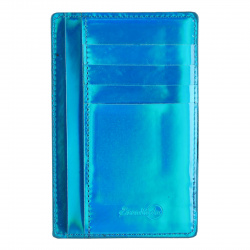 Картхолдер искусственная кожа, 90*140мм, цвет синий Наппа Феникс 48414