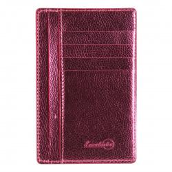 Картхолдер искусственная кожа, 90*140мм, цвет розовый Наппа Феникс 48417