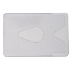 Футляр для карт пластиковый 64*96 ДПС с вырубкой под палец 64*96 2802.ЯК прозрачный