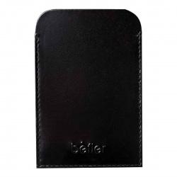 Футляр для удостоверения кожаный 70*100 Befler Классик тиснение F.20.-01./F.20.SH black черный