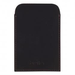 Картхолдер на 1 визитку, натуральная кожа, 70*100мм, цвет коричневый Футляр для удостоверения Befler F.20.-01.brown