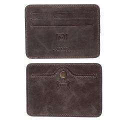 Кардхолдер кожаный 7*10,5 Grand Титан DM-KH18-K024-R коричневый