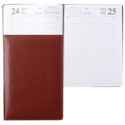 Ежедневник А4 (170*240) дат 2021г тв обл 7Бц к/з поролон 176л Hatber Sarif ляссе перф отстроч Hatber 176ЕдД4_00404 коричневый