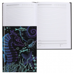 Ежедневник недатированный, А5, 80л, склейка Океаническое приключение Проф-Пресс 80-7527